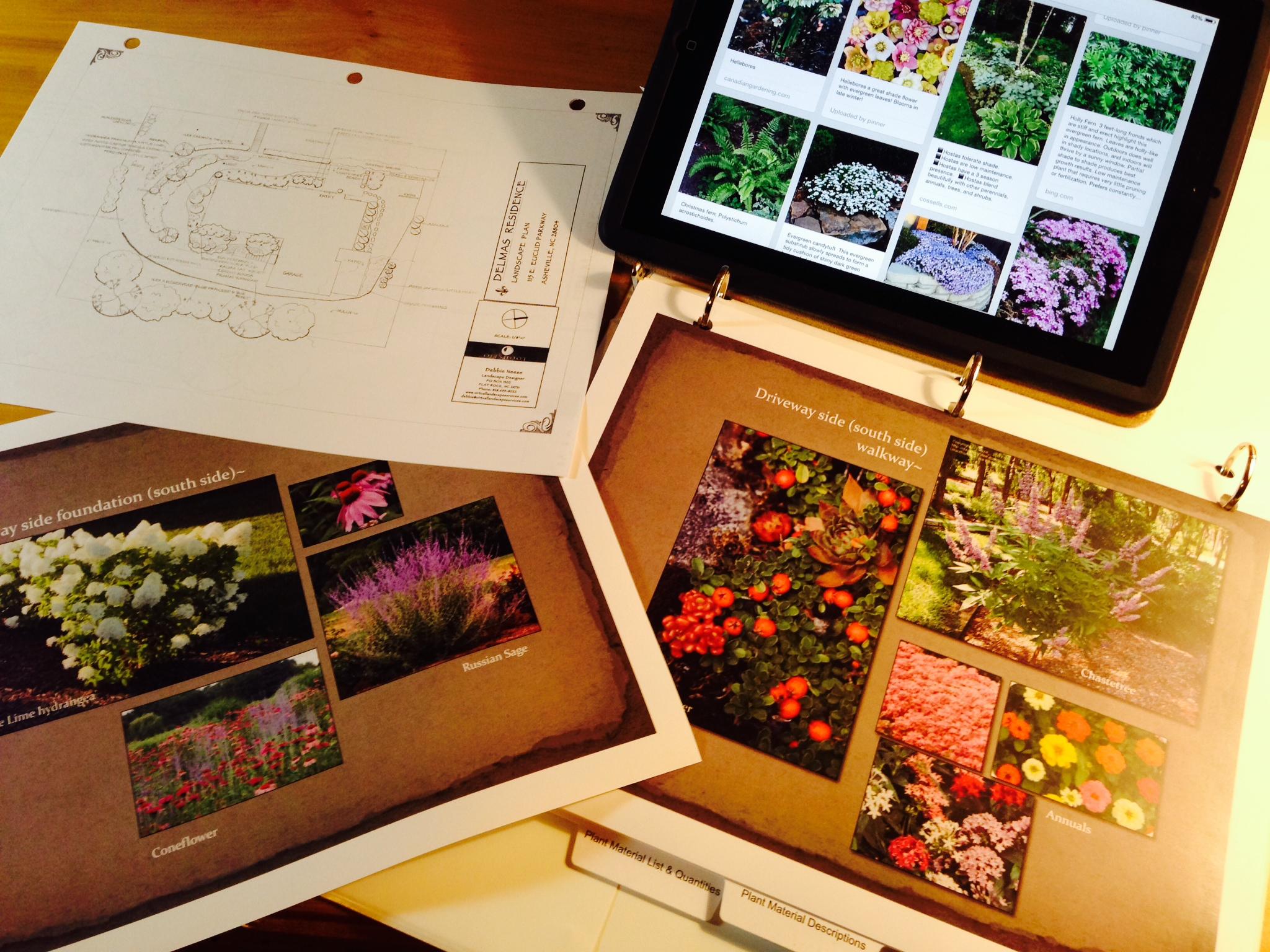 Visuals for the Landscape Design Presentation