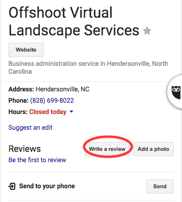 Google Review-review for landscaper-architect-business