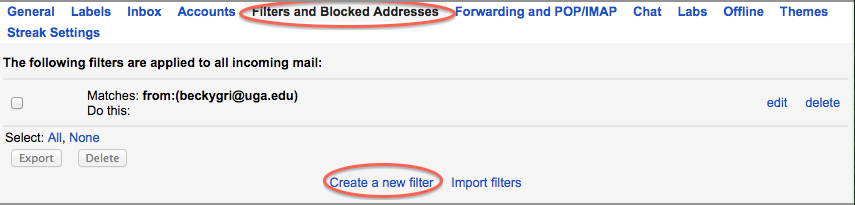 Organizing my Gmail with Filters