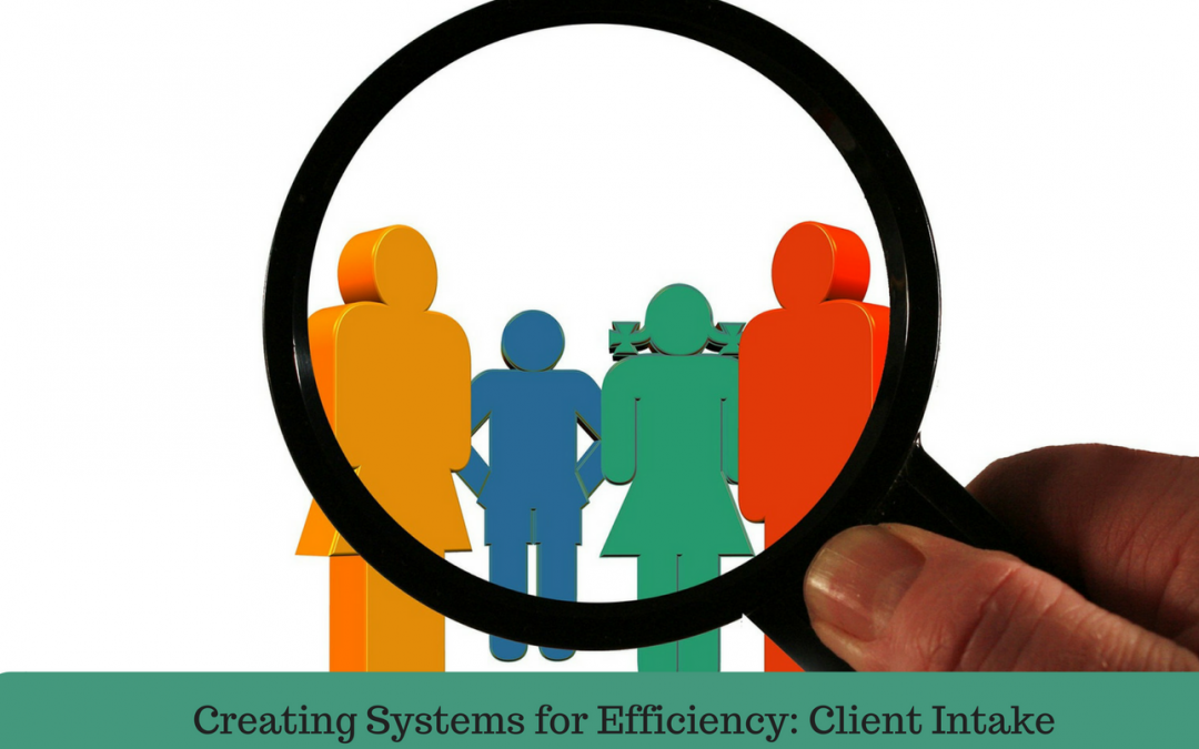 Creating Systems for Efficiency: Client Intake