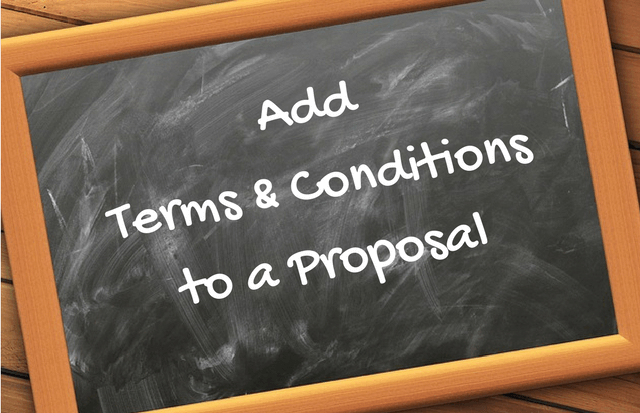 Add Terms & Conditions to a Landscape Proposal