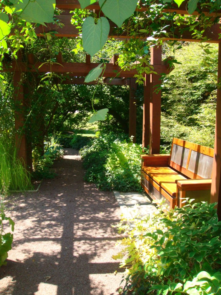 garden seating with arbor-landscape design-Hendersonville-landscape designerJPG