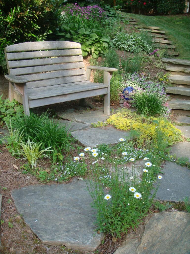 wooden bench-gardens